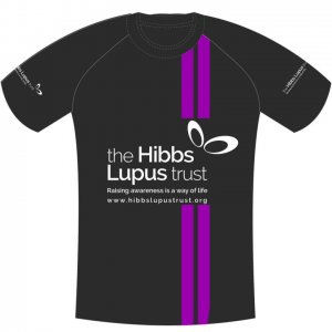 The Hibbs Lupus Trust Run Tshirt Front