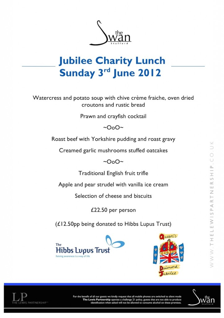 Jubilee Lunch 3rd June 2012 - The Swan Stafford