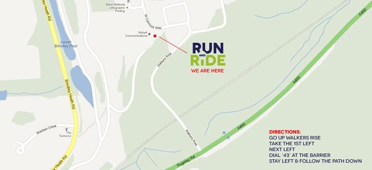 Run & Ride Map - The Hibbs Lupus Trust